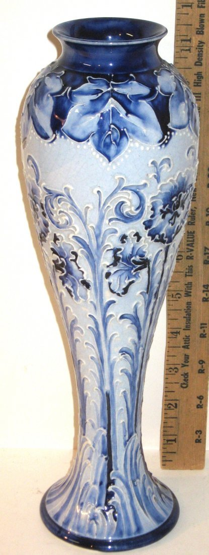 Moorcroft Macintyre Florian ware vase, - 3