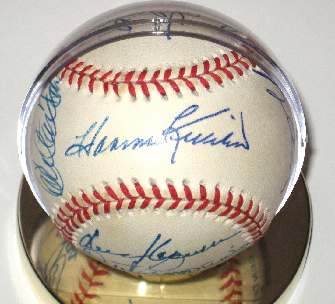 Official Gene Budig A. L. Signed baseball,