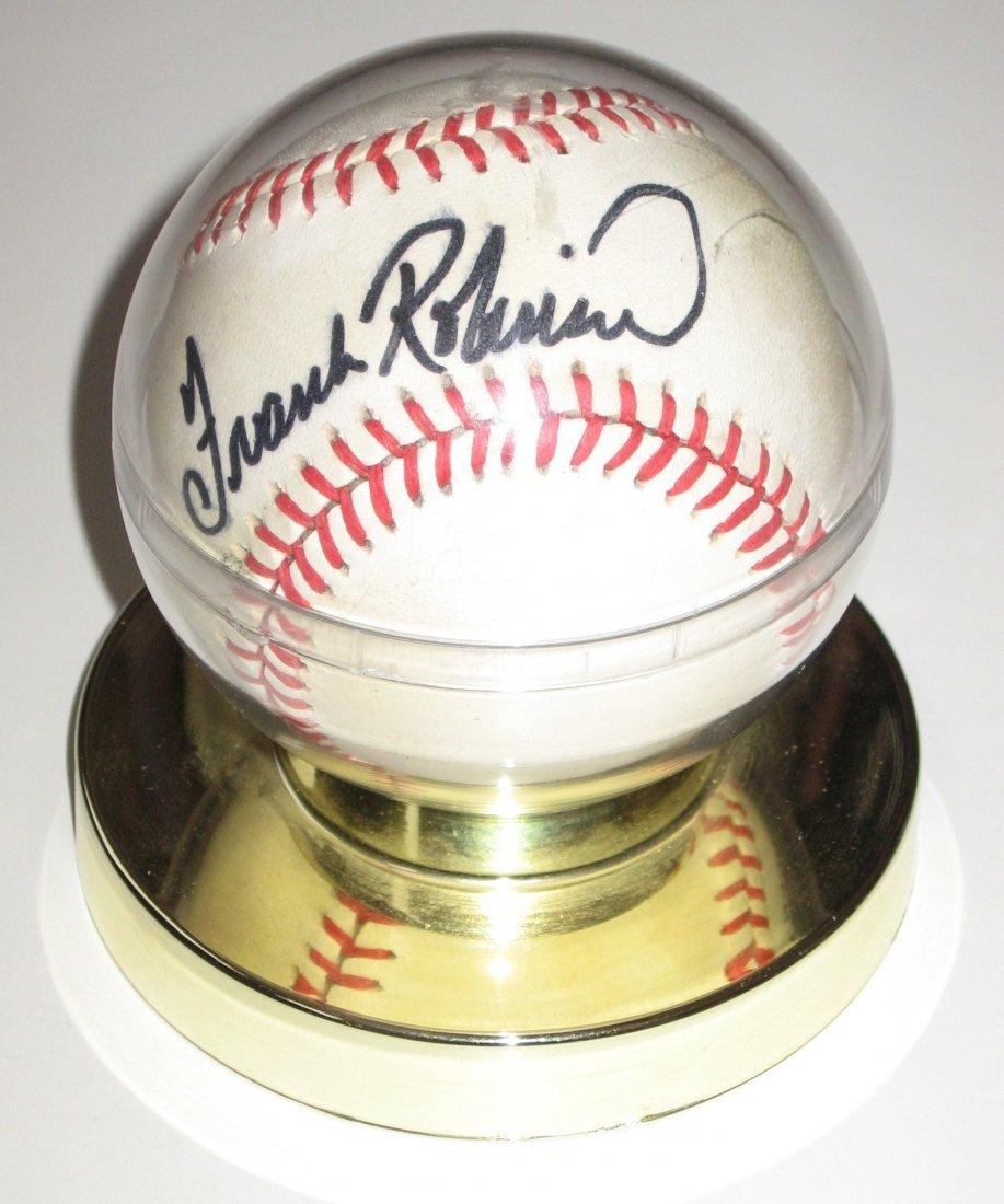 Frank Robinson signed baseball,