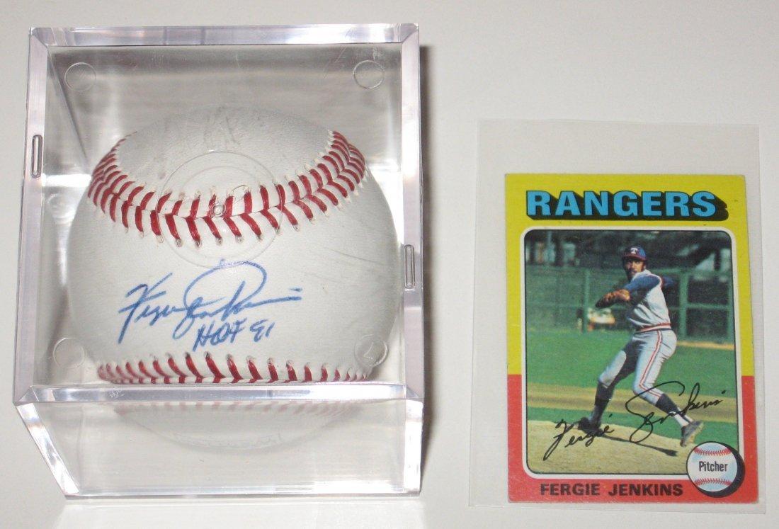 Signed Ferguson Jenkins baseball,