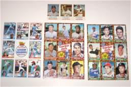 Three uncut sheets of baseball cards