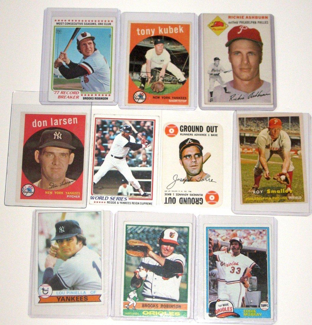 Cards Robinson, Ashburn, Torre, Kubek