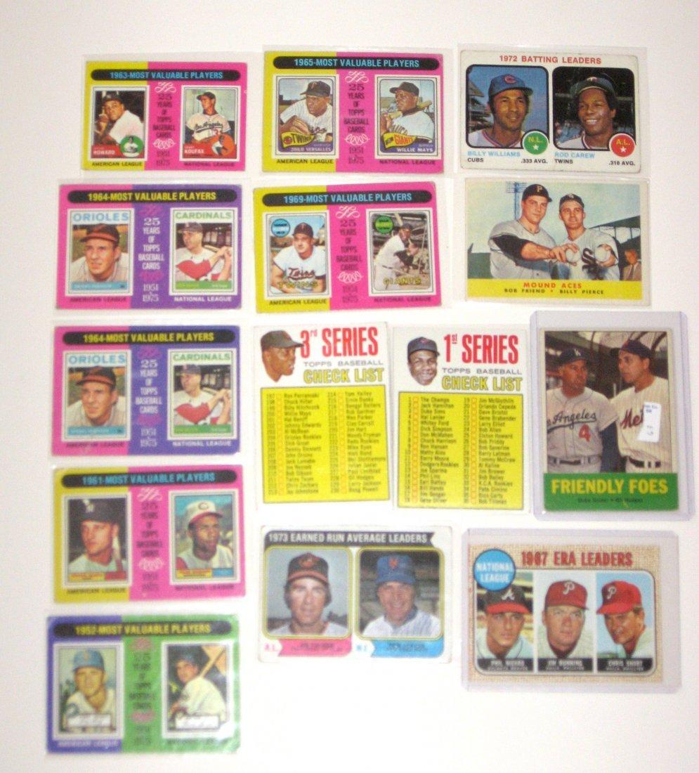14 vintage baseball cards,