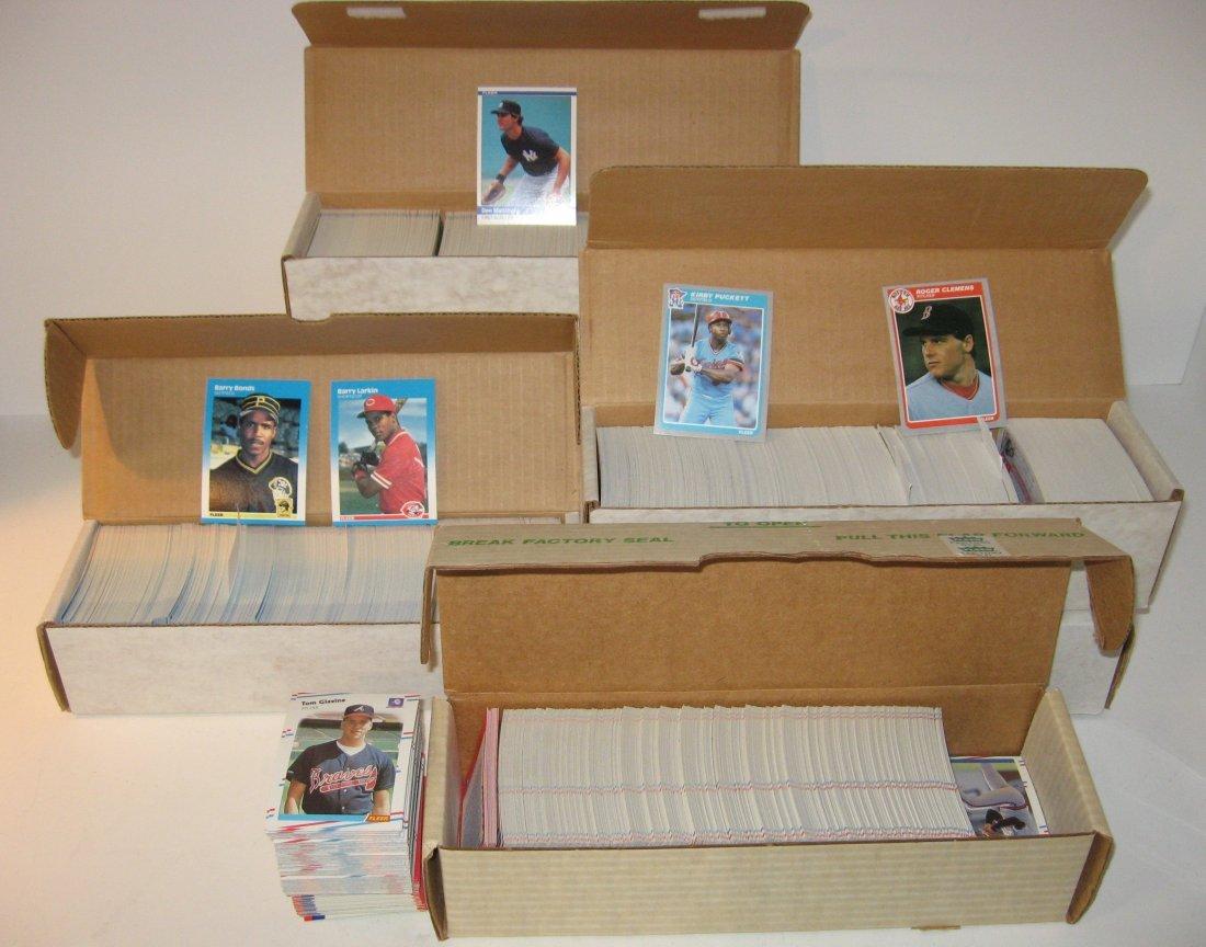 Five complete sets of Fleer baseball cards,