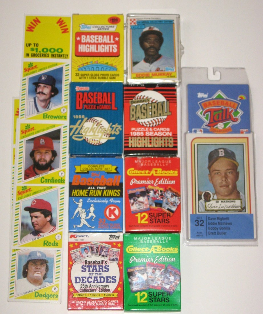9 special baseball cards sets,