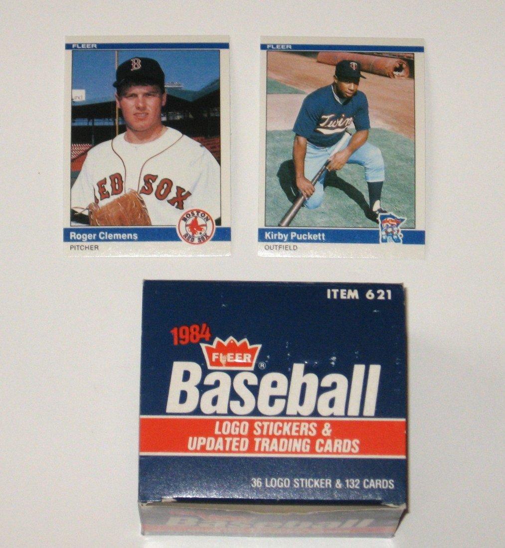 1984 Fleer update sticker and cards,