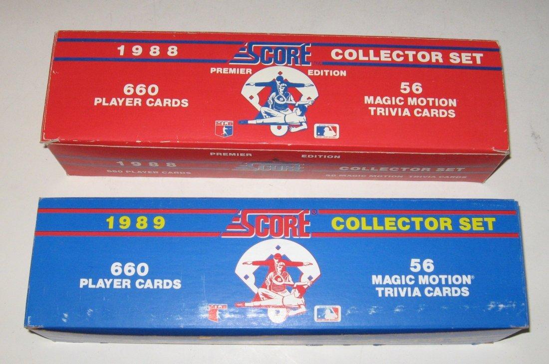 Two Score baseball factory sets,