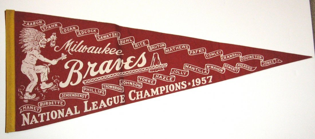 1957 Milwaukee Braves Pennant,