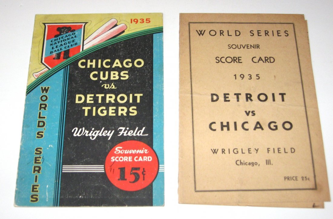1935 Chicago Cubs World Series program,
