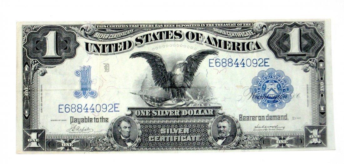 1899 U. S. one dollar silver certificate.