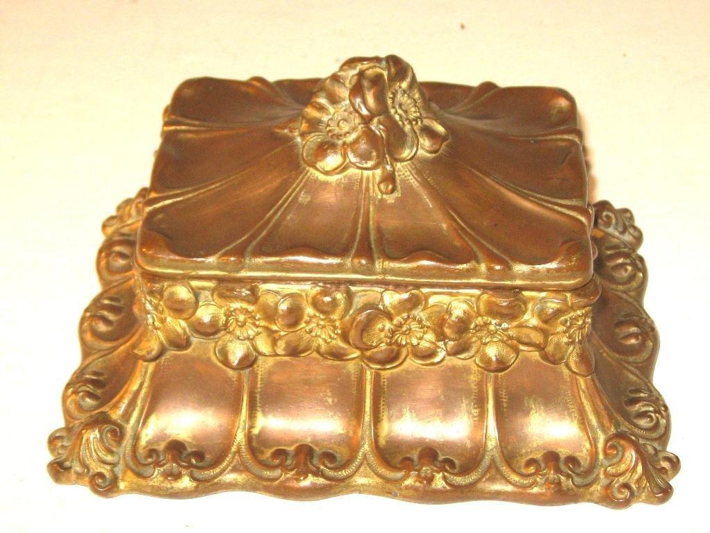 Copper Art Nouveau dresser box,