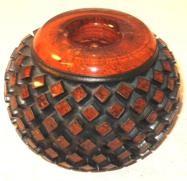 Important Michael Glancy glass vase,