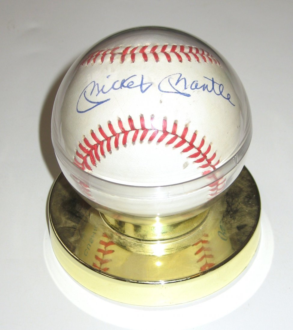 Mickey Mantle autograph baseball,