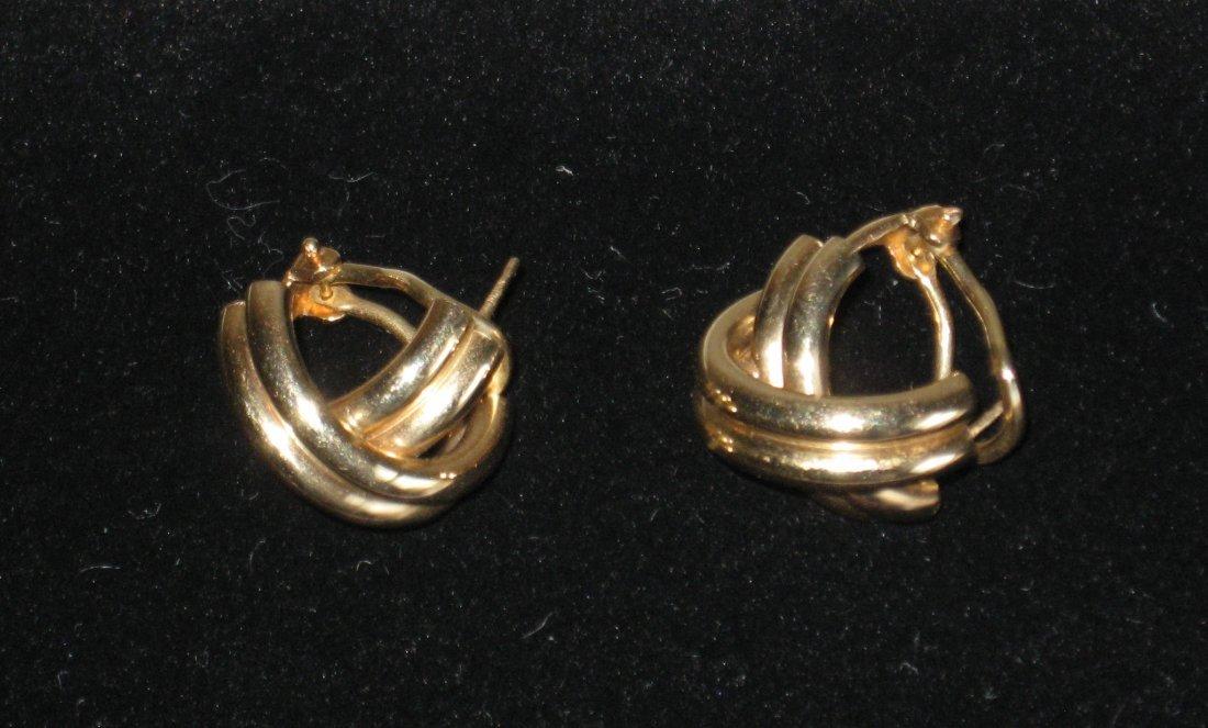 Pair of 14K Gold earrings,