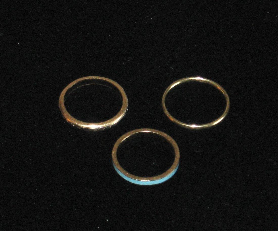 Three 14K Gold rings,