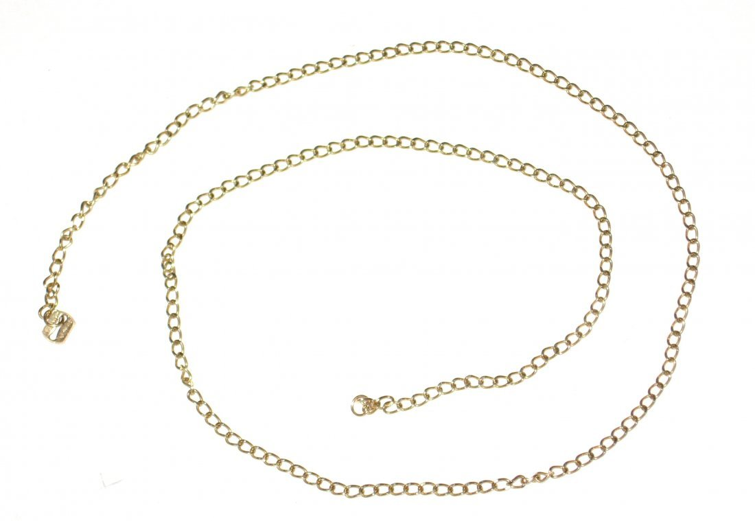 14K yellow gold chain necklace,