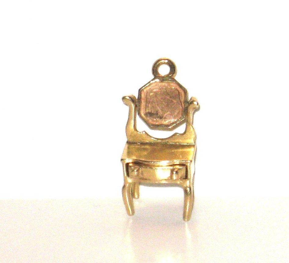 14k gold vanity desk charm,