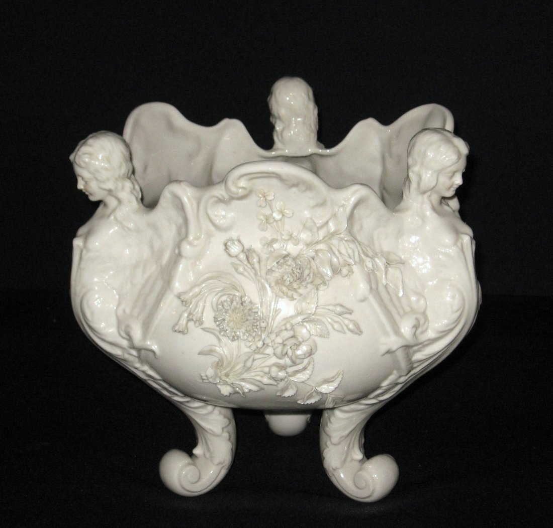 Large Belleek angel Jardinire,