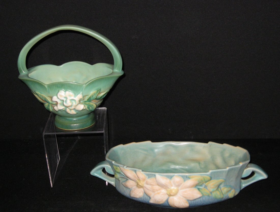Two Roseville pottery items,