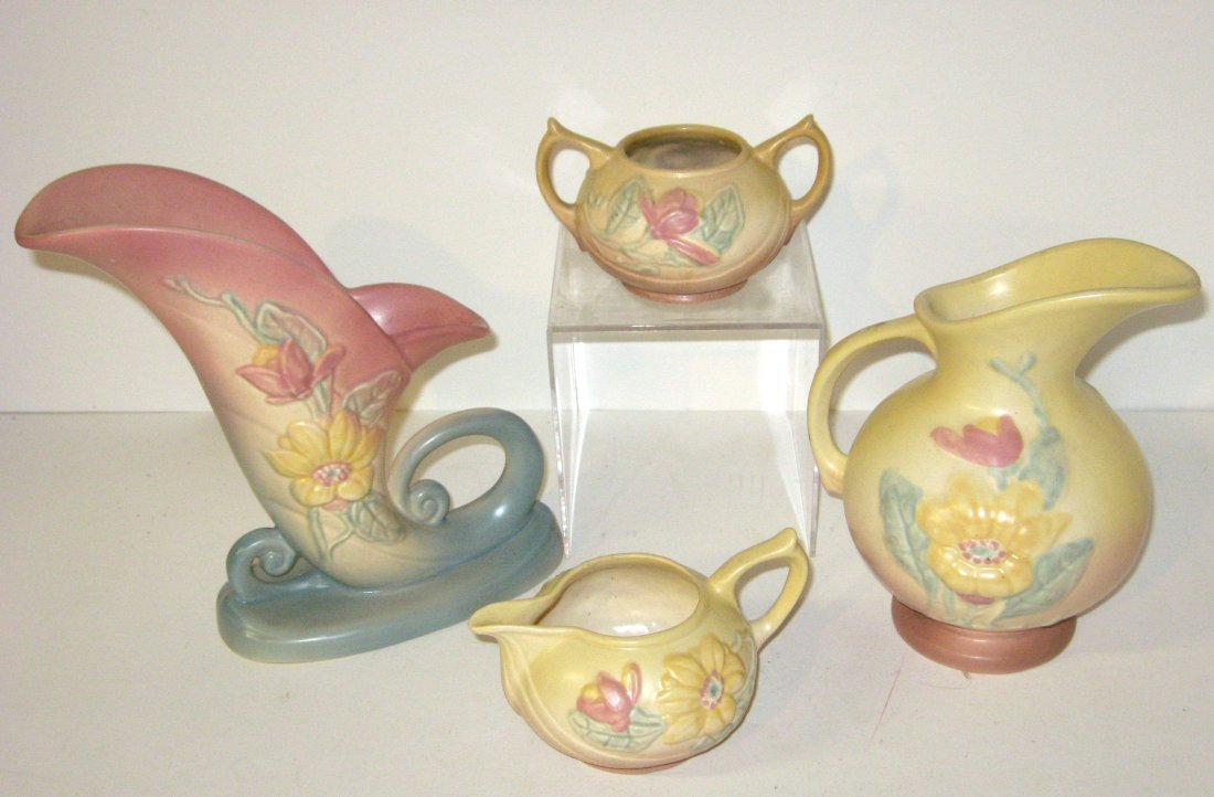 Four piece grouping of Hull pottery,
