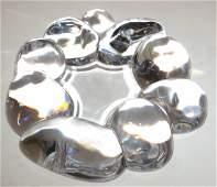 Daum crystal glass free form sculpture