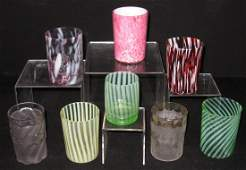 Eight Victorian tumblers,