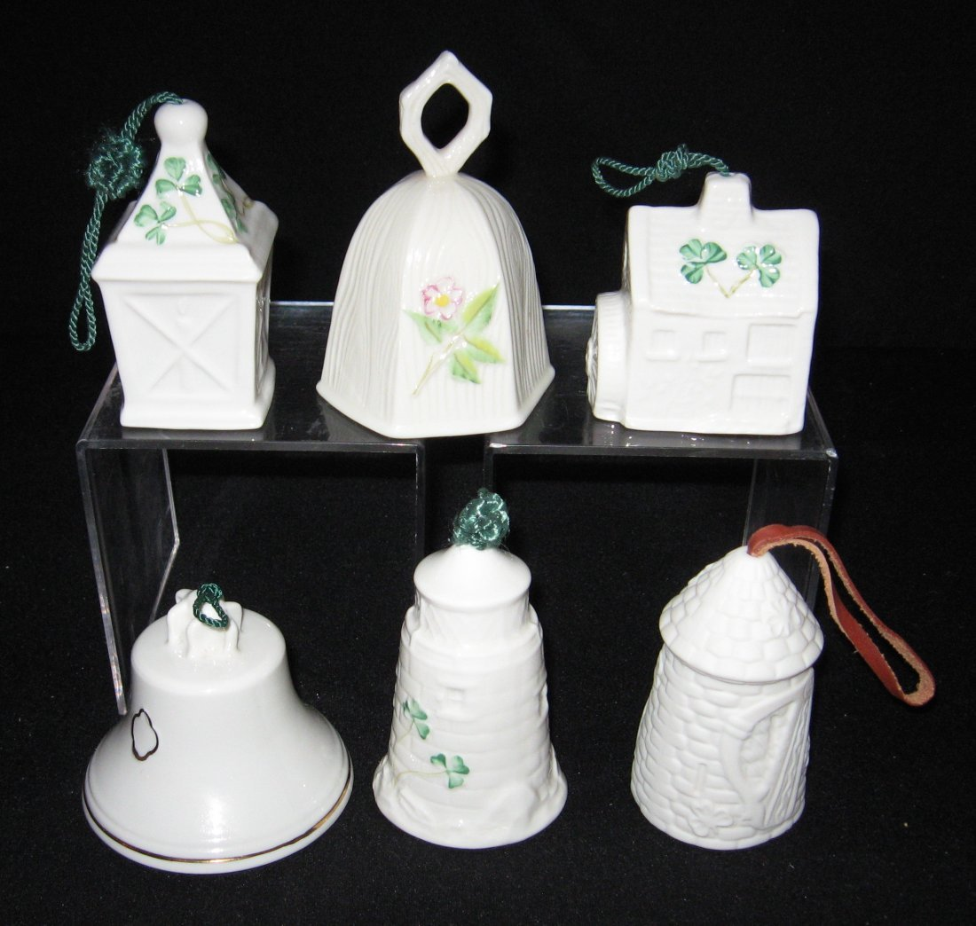 Ten Belleek Christmas ornaments, - 2