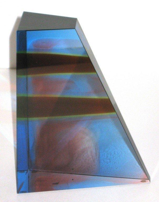 Mark Peiser Sculpture glass vase,