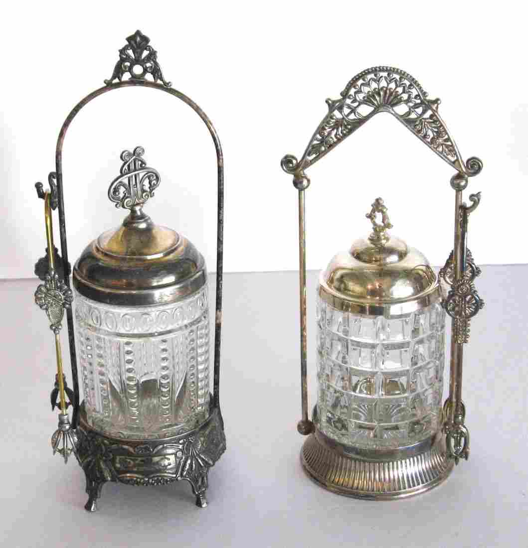 Two Victorian pickle castors