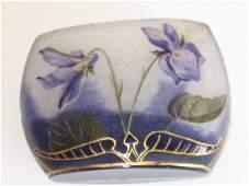 Daum Nancy French cameo miniature glass vase,
