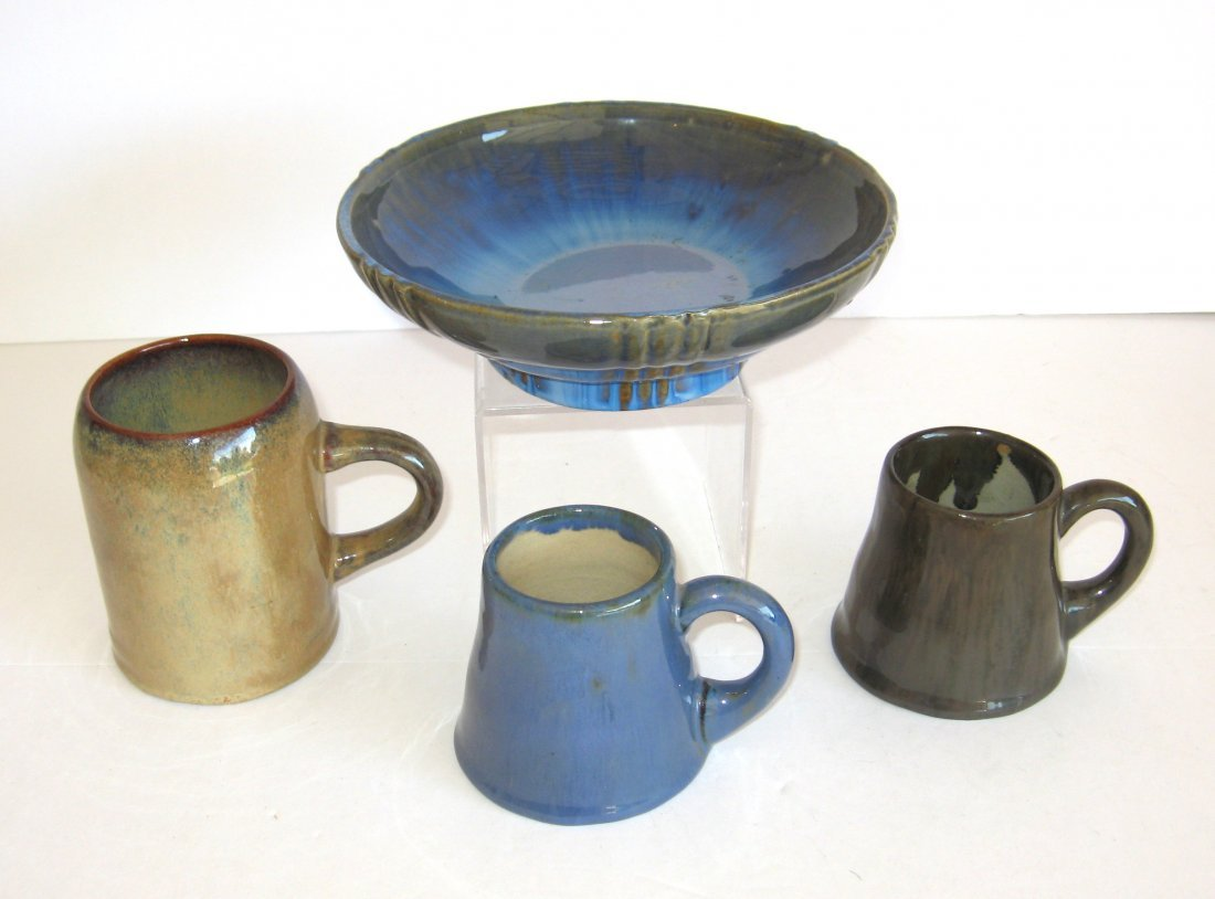 Group of four Fulper pottery items,