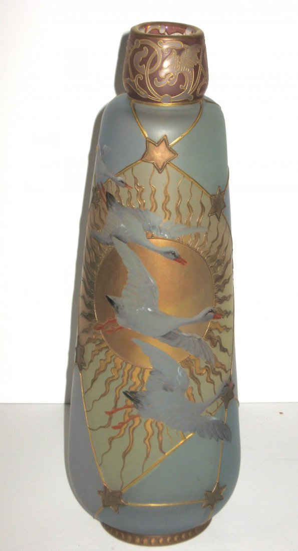 Mt. Washington Royal Flemish glass vase,