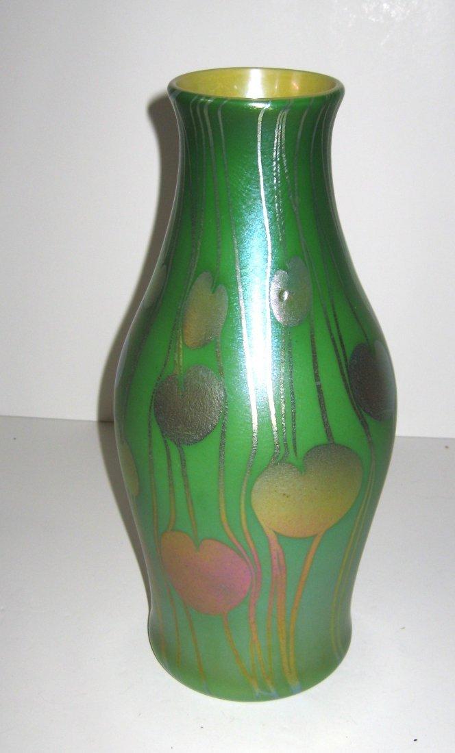 Monumental Tiffany Corona glass vase,