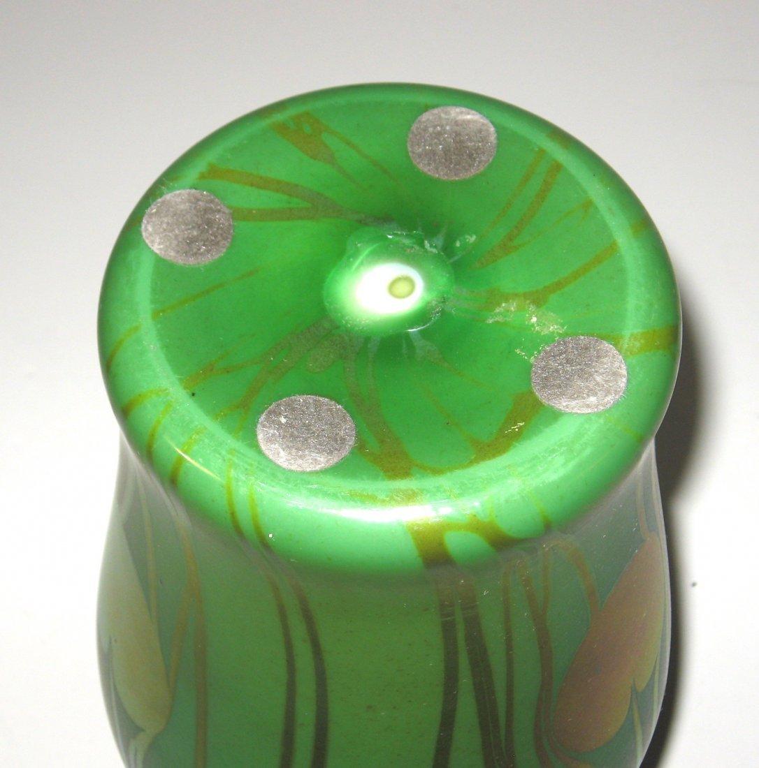 Monumental Tiffany Corona glass vase, - 4