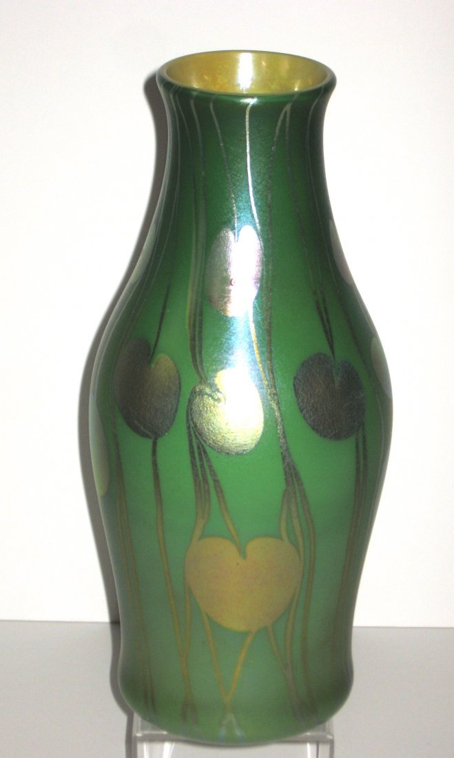 Monumental Tiffany Corona glass vase, - 6