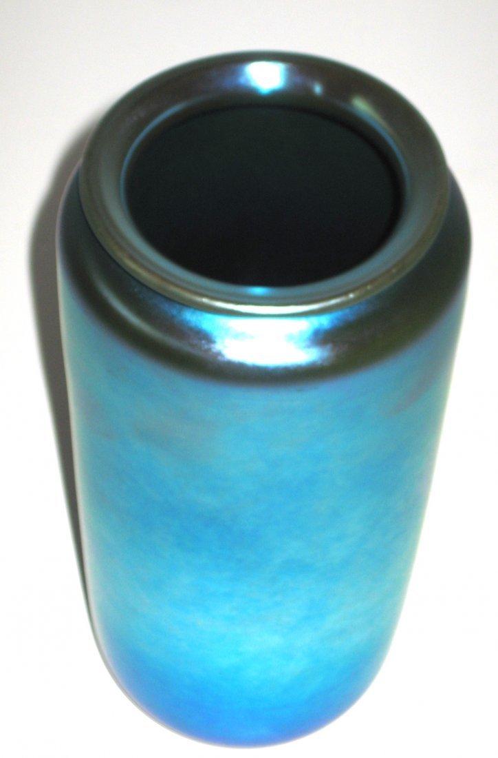 Large Steuben blue Aurene glass vase, - 3
