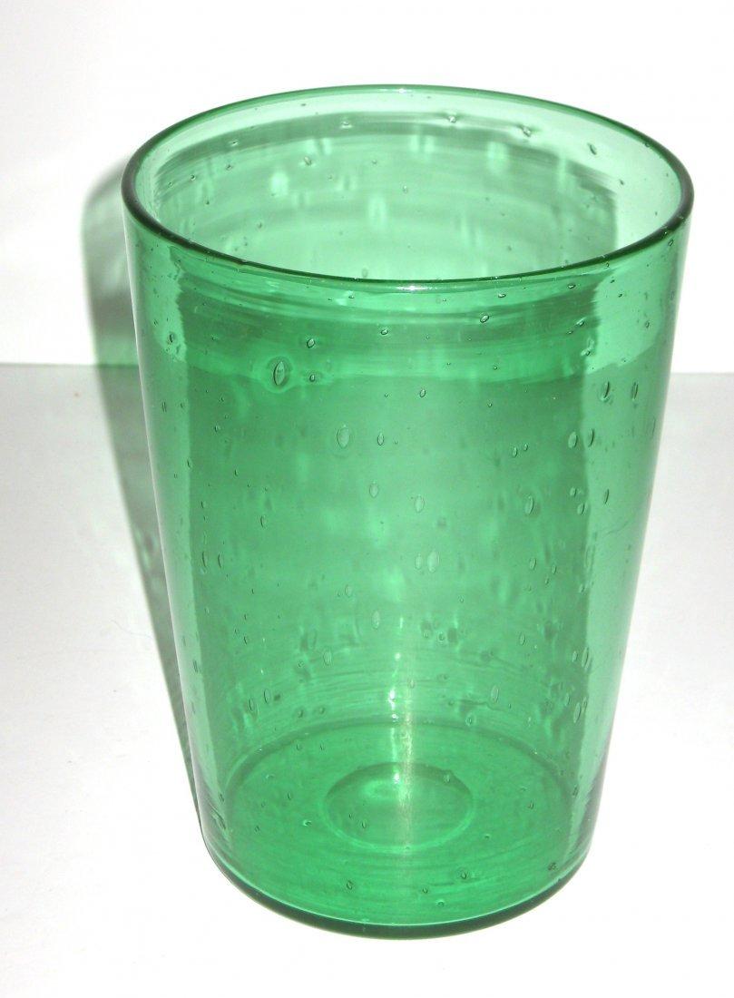 Steuben Pomona green glass vase,