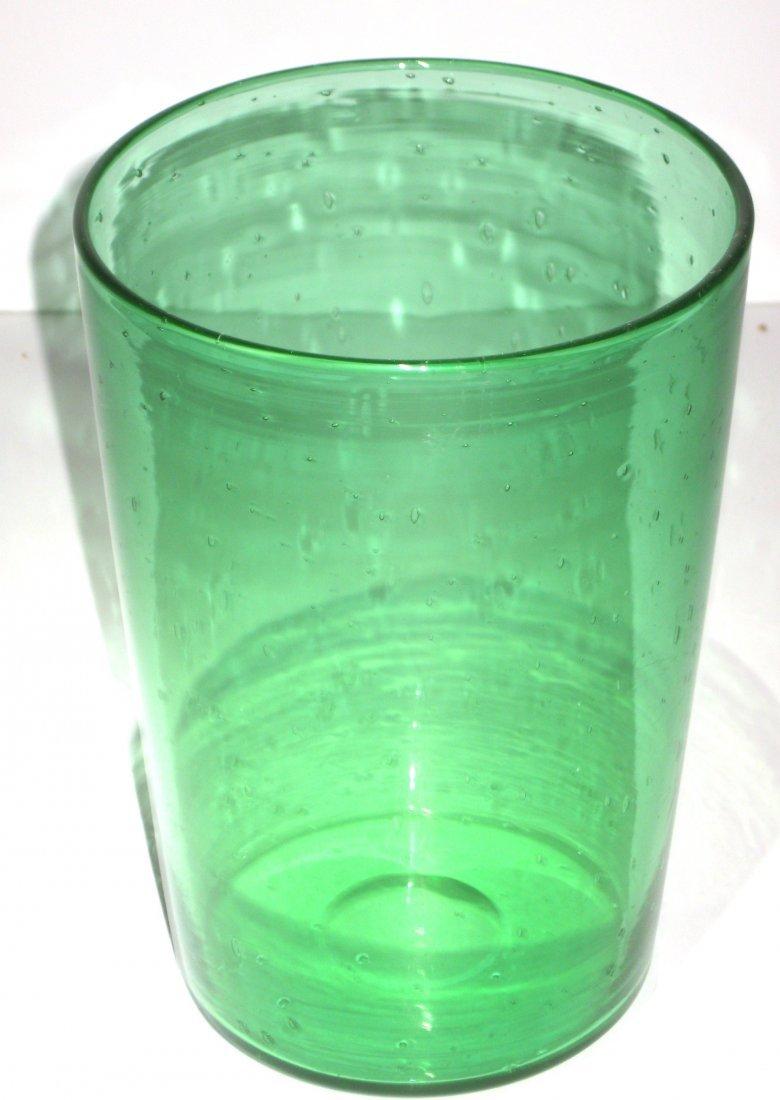 Steuben Pomona green glass vase, - 3