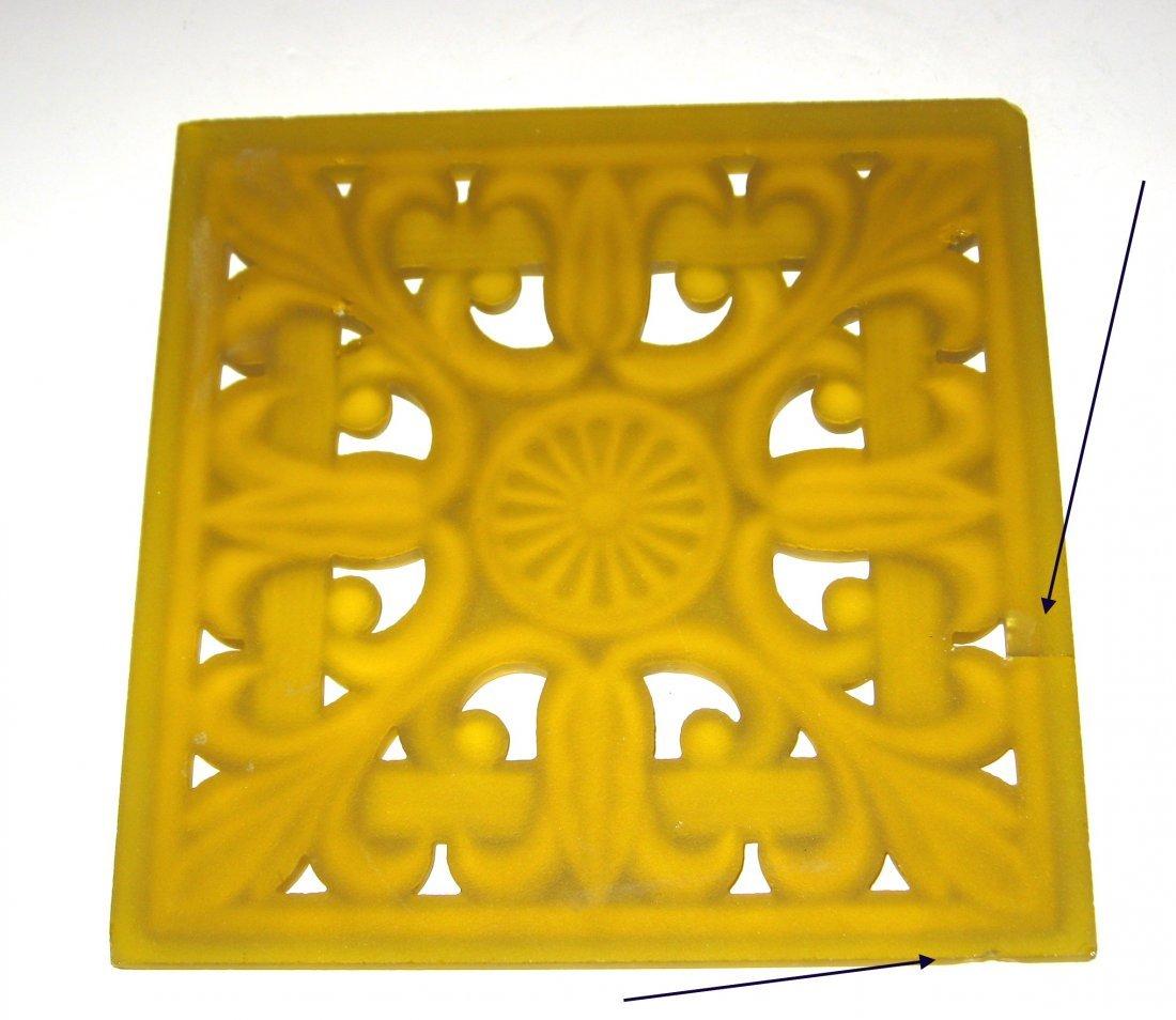 Steuben architectural glass tile, - 2
