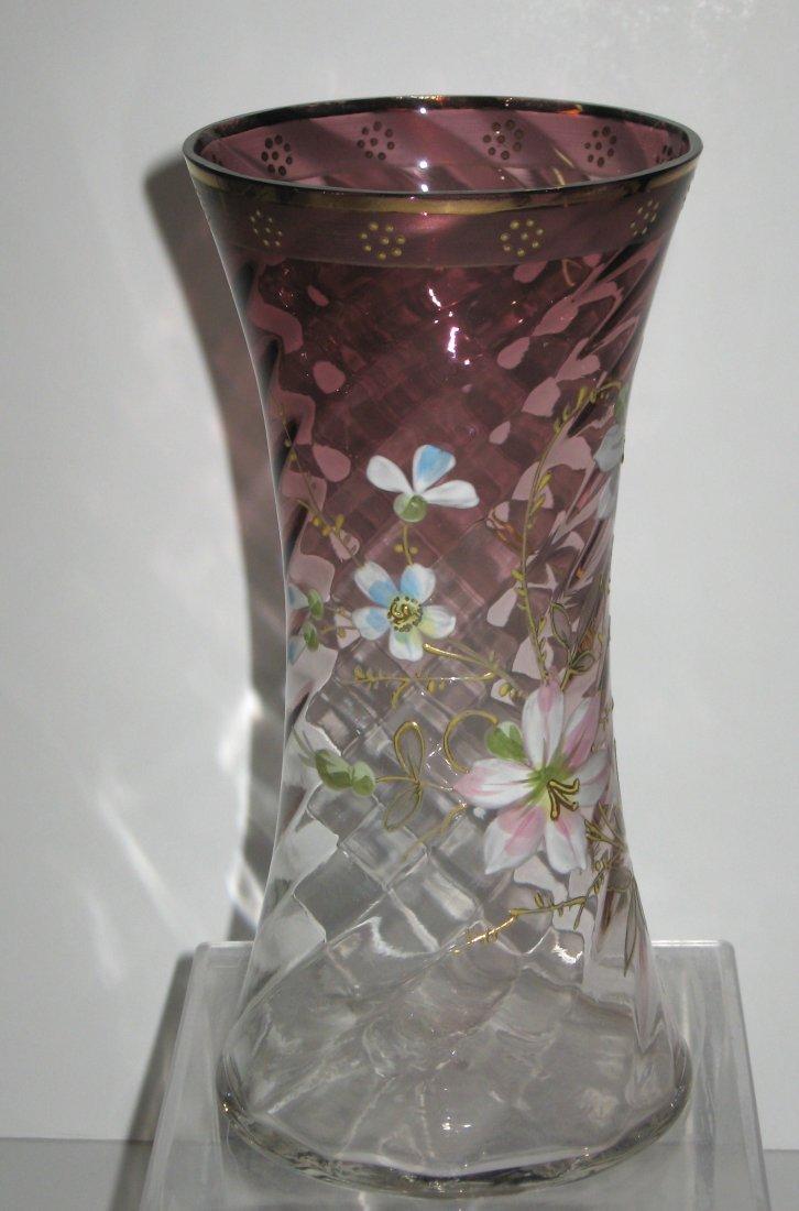 Mount Joye enameled glass vase - 2