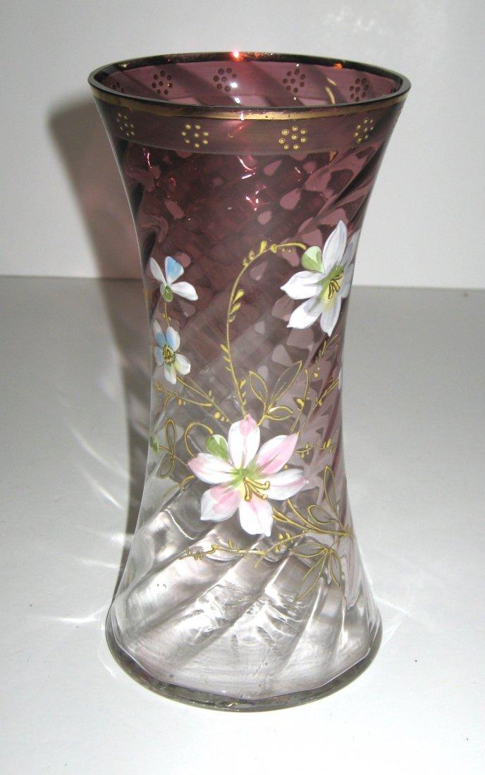 Mount Joye enameled glass vase - 3