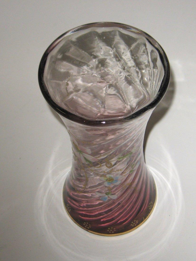 Mount Joye enameled glass vase - 4