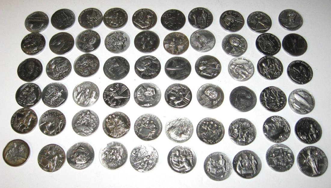 "Set of Longines coins ""Great American Triumphs"""