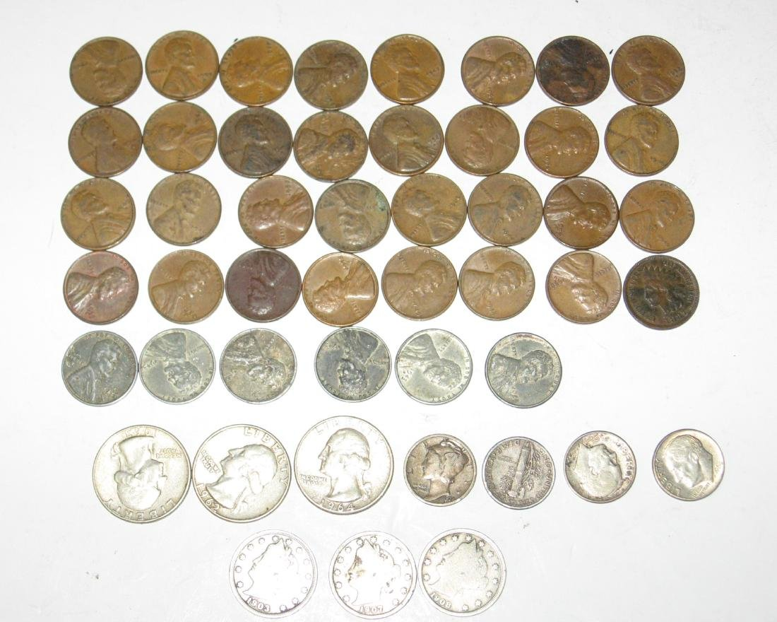 Group of US coins,