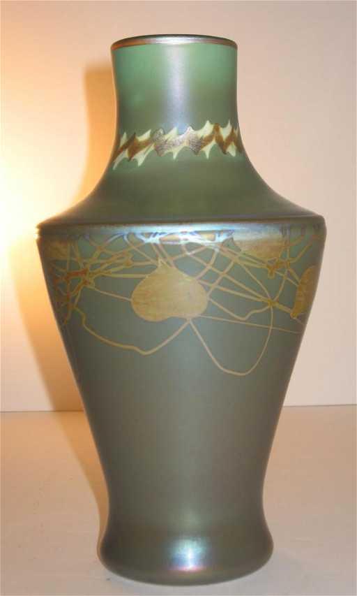 Rare Steuben Tyrian Aurene Glass Vase