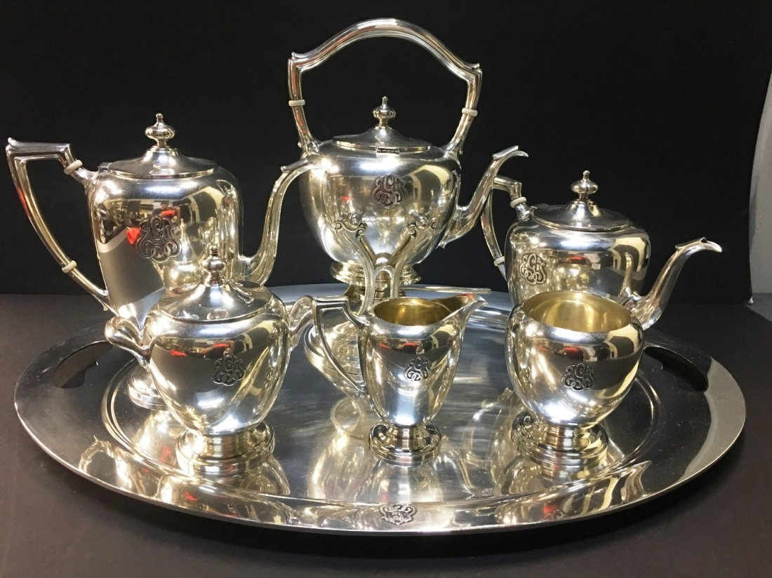 DOMINICK & HAFF STERLING TEA SET