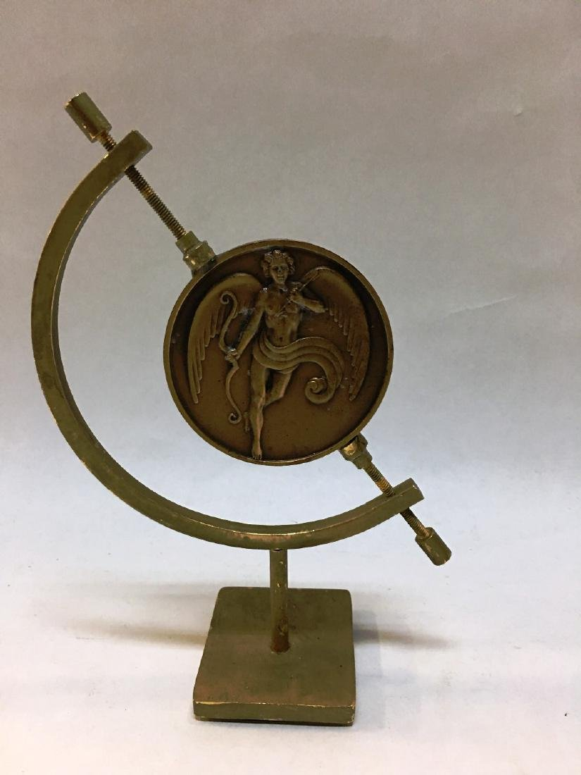"ERTE DOUBLE-SIDED BRONZE MEDALLION ""THE KISS"""