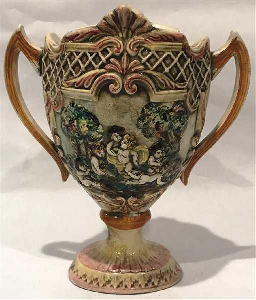 Double Handled Capodimonte Vase
