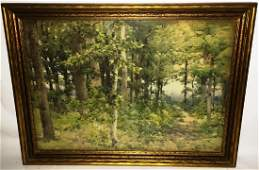 WILLIAM HENRY HOLMES WATERCOLOR FOREST SCENE