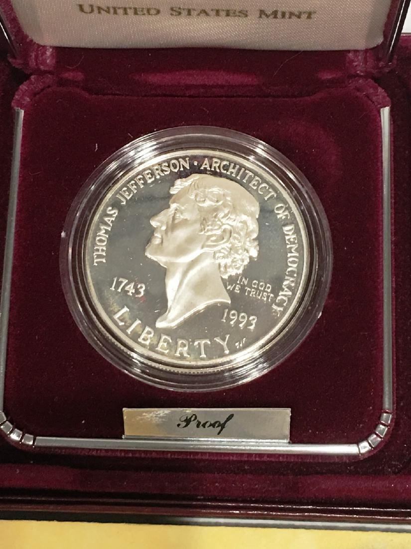 THOMAS JEFFERSON 250TH ANNIVERSARY SILVER DOLLAR